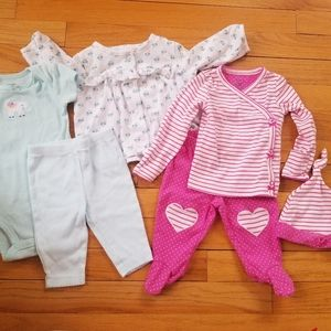 2 Carter's Matching Outfits Size 3 months